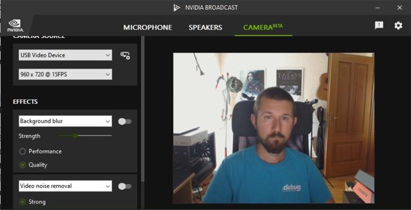Scena koju snima naša Logitechova USB kamera bez primjenjenog filtra za zamućivanje pozadine