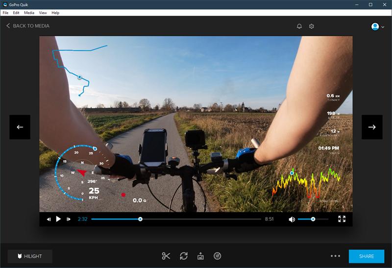 """Pomoću softvera Quick na video mogu se nalijepiti informacije izvučene iz podataka od GPS-a i drugih senzora – šteta samo što se taj """"overlay"""" s """"mjernim instrumentima"""" ne može eksportirati kao zasebni video s prozirnom pozadinom, kako bi ga korisnik iskoristio u programu kojem on želi"""