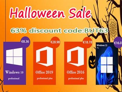 Halloween ponuda - Windows 10 Pro 8,36 eura, Windows 11 Pro 16,07 eura