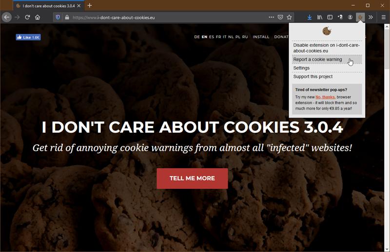 Bilo je dosta maltretiranja s obavijestima o kolačićima, zahvaljujući domaćem developeru