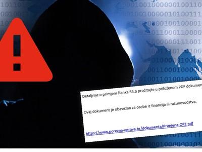 Malware kampanja lažira mailove Porezne uprave