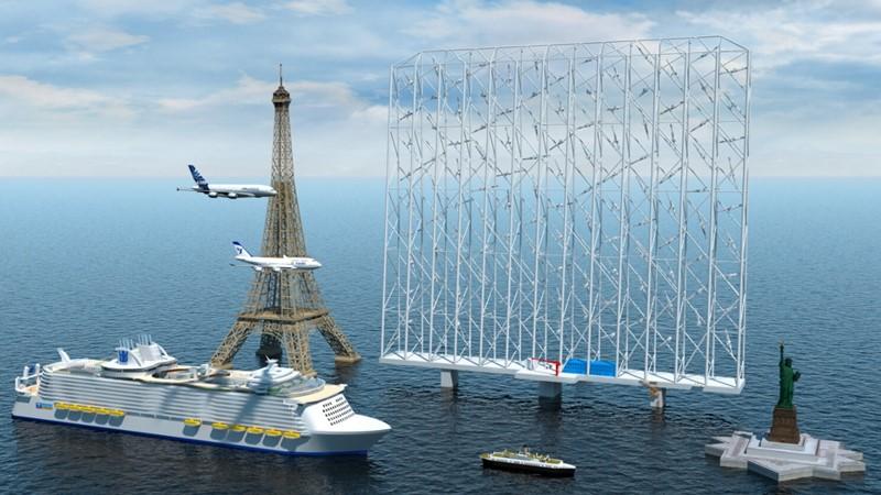 Usporedba veličine Wind Catchera s nekim poznatim strukturama